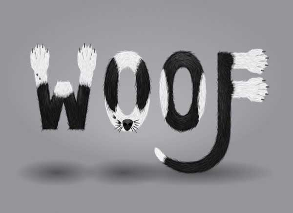 typography tutorials: furry calligram