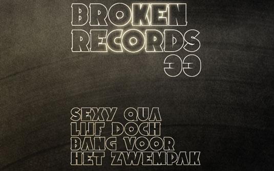 Graffiti font Broken Records
