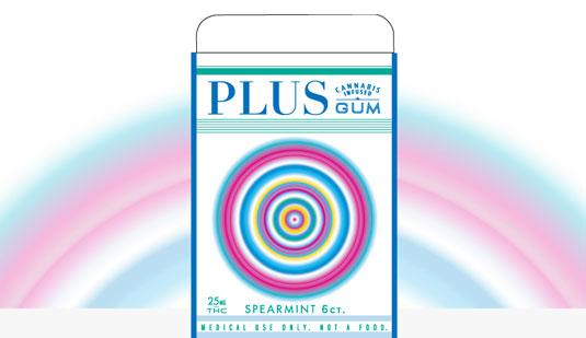 Cannabis branding: Plus Gum