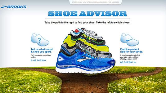 Sliders in web design: Shoe advisor