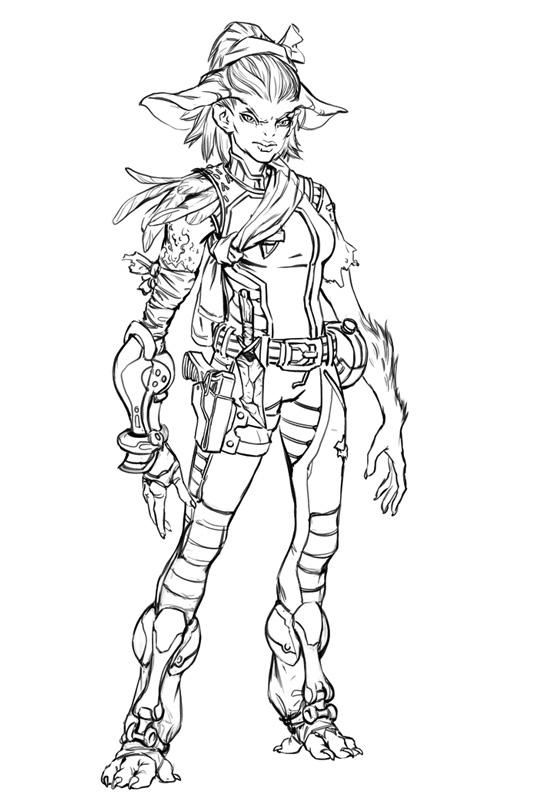sci fi lady