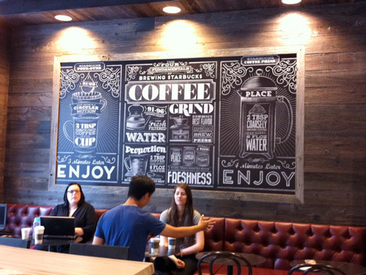 typography mural