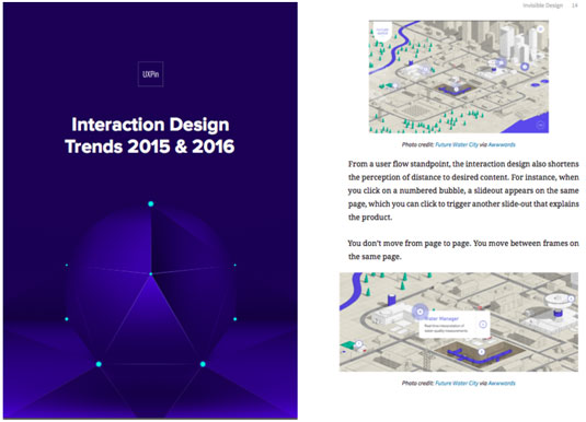 Interaction Design Trends 2015 & 2016 cover