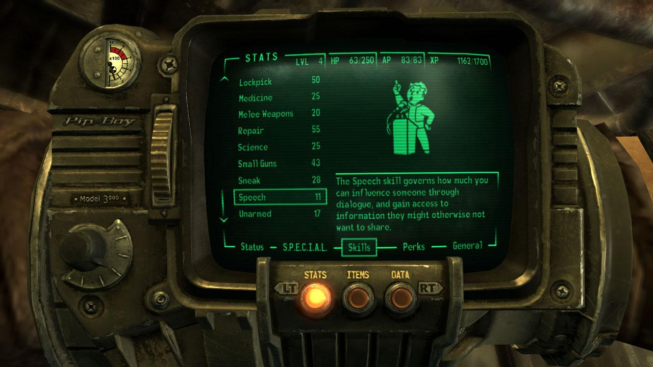 Fallout 3 читы special