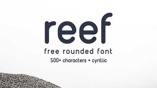 Free font: Reef
