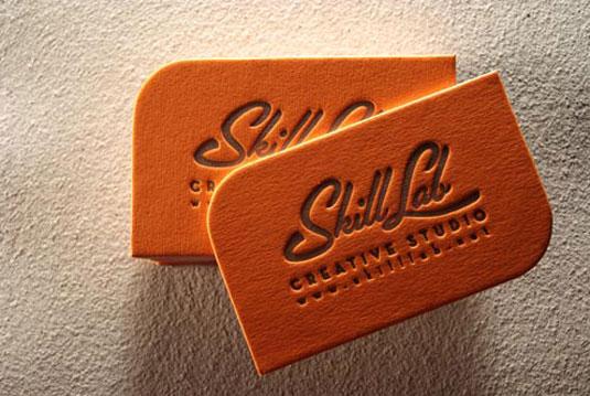 letterpress business cards: Skill Lab