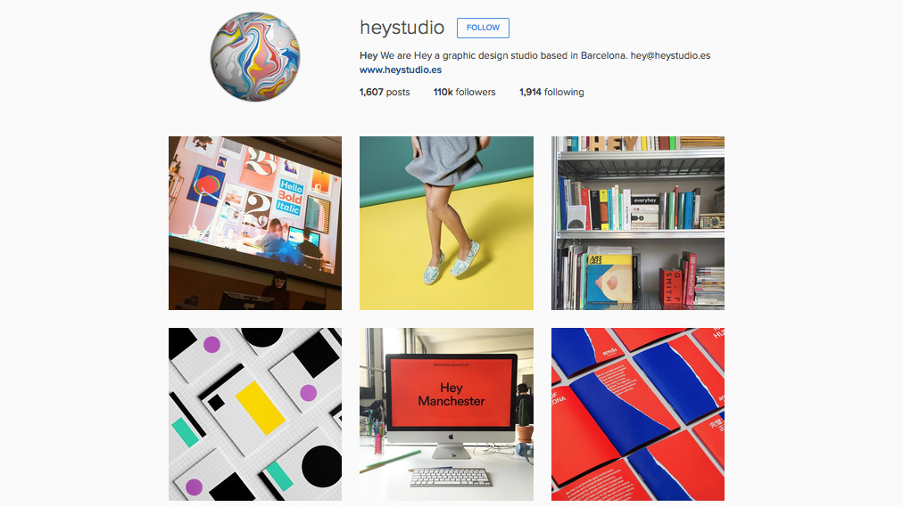 Graphic designers to follow on Instagram: Hey Studio