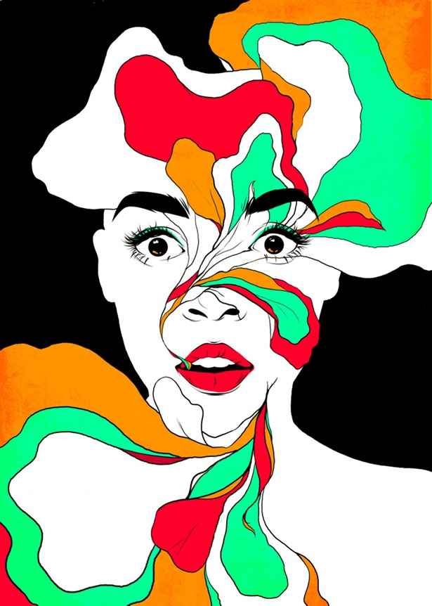 Katie Mazikins - Mushrooms and Roses