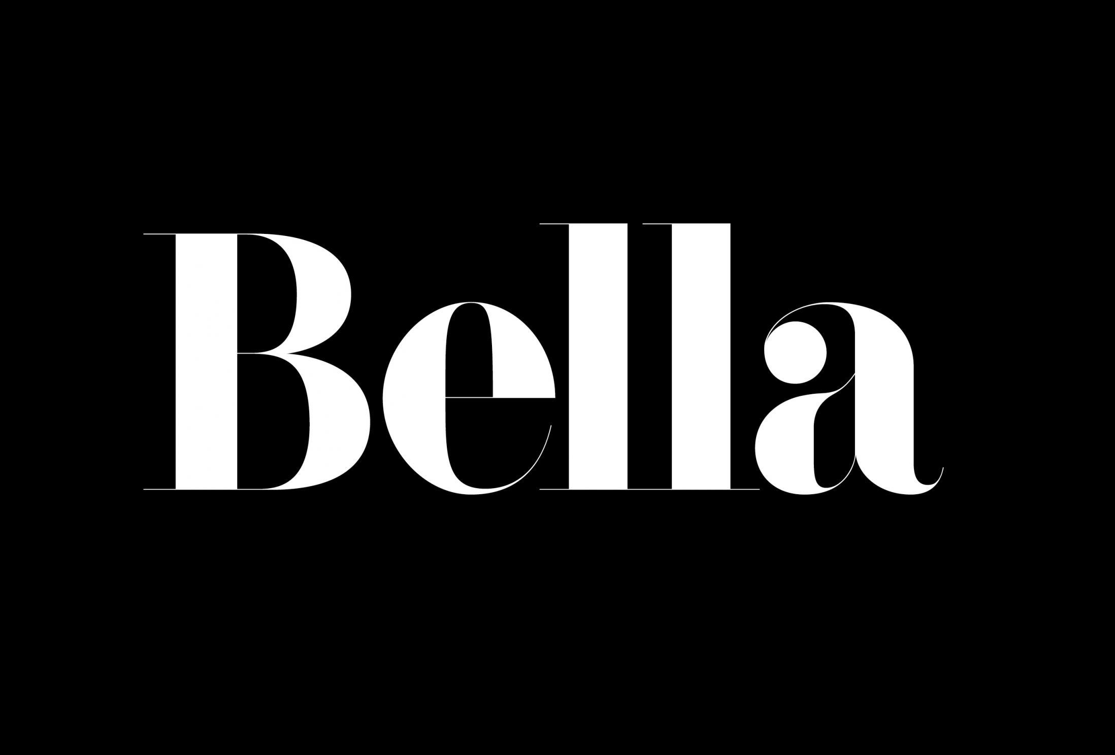 Bella display font