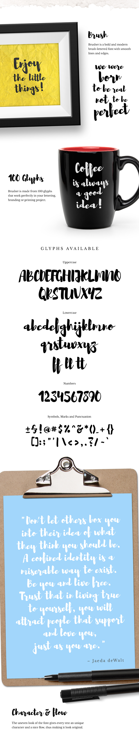 Free font: Brusher