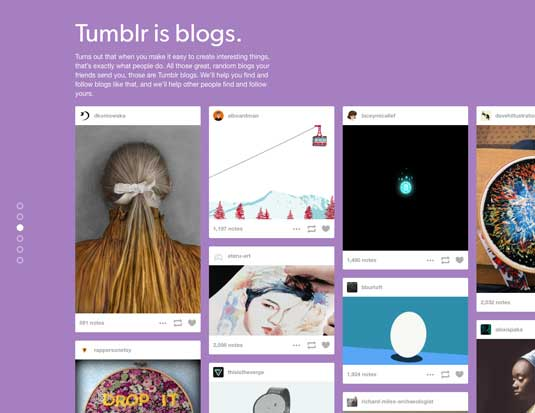 Best blogging platforms: Tumblr