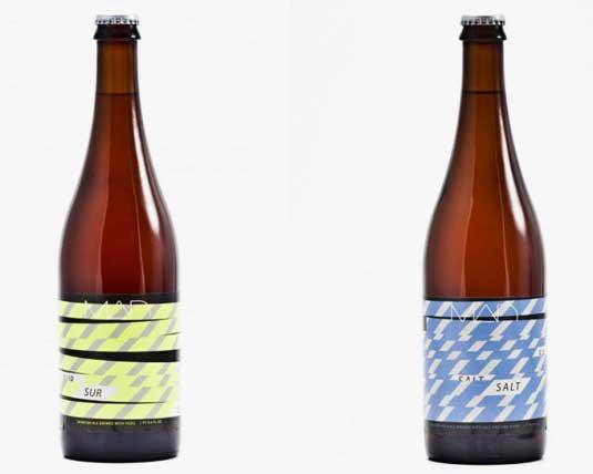 minimal packaging design: Mad beer