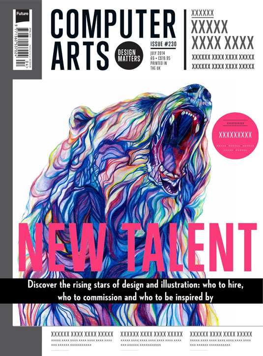 Cover design for CA's New Talent issue by Claudine O'Sullivan