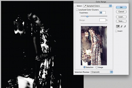 Retouch images with frequency separation: step 14