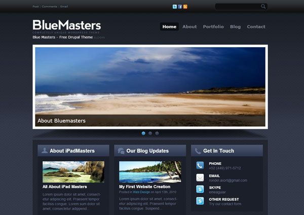 Drupal themes - Blue Masters