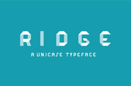 Free font: Ridge