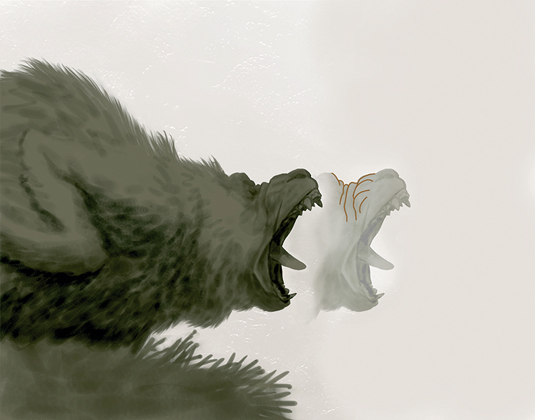 Bobby Chiu's roaring creature: Step 2