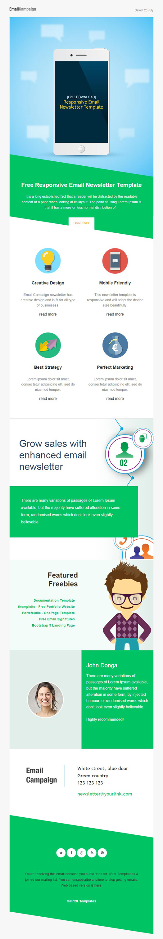 8 free newsletter templates creative bloq for How to create an email newsletter template