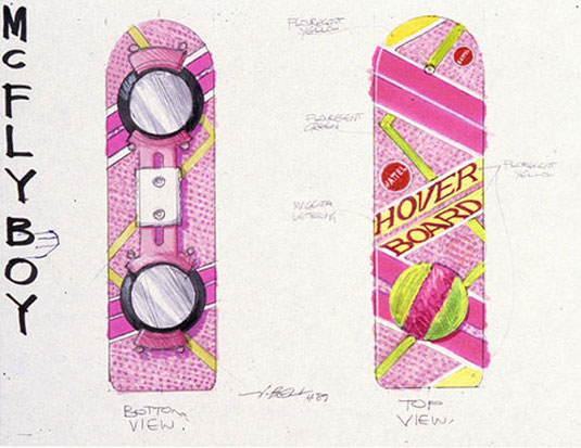 Back to the Future hoverboard sketch