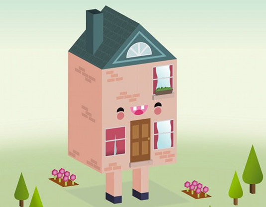 vector based image of a house on legs