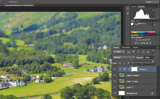 Tilt shift in Photoshop: Step 5