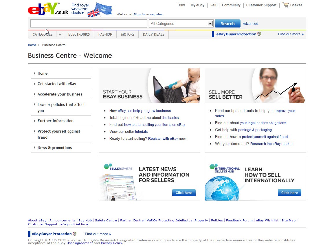 eBay Business Centre for small businesses