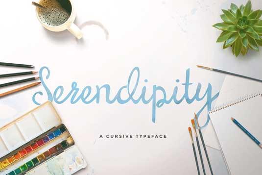 Free font: Serendipity