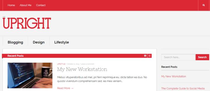 Free WordPress themes: Upright