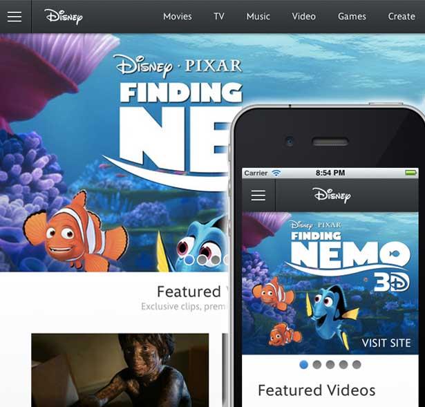 Best responsive websites: Disney.com