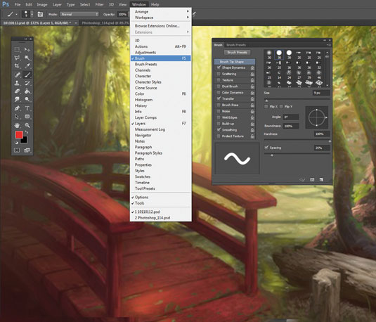 Photoshop Brushes: tip settings