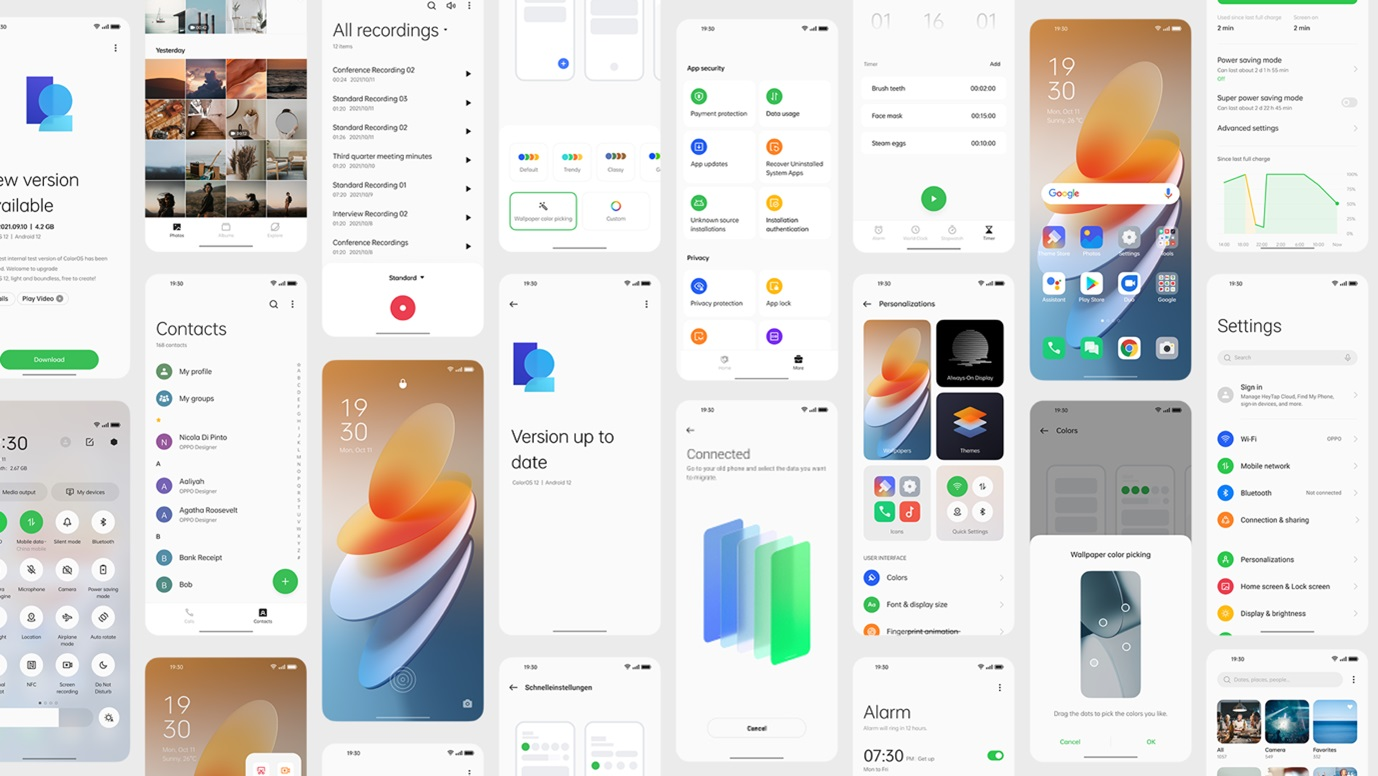 The new ColorOS 12 based on Android 12- A nifty upgrade with features that will significantly provide a seamless experience