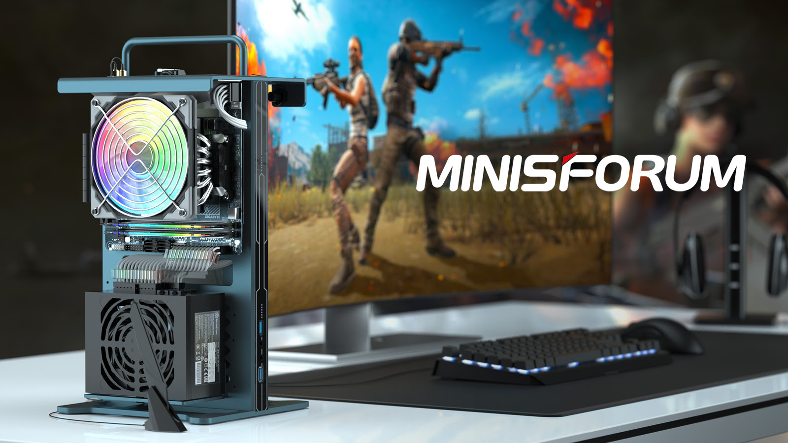 Minisforum Open Air Mini Gaming PC Is All AMD With Ryzen 5 5600X, Radeon RX 6700 XT