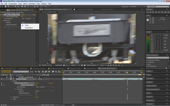 Rolling Shutter Repair in After Effects CS6
