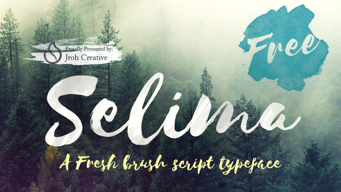 Free brush font: Selima