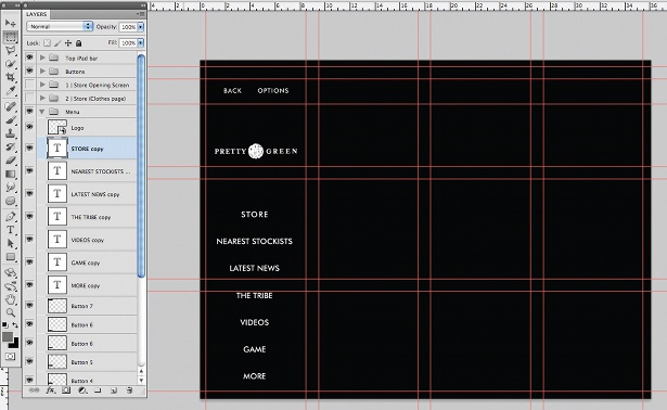 Design an iPad app UI in Photoshop: step 9