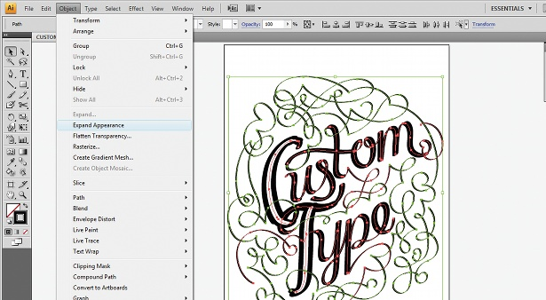 Use the Calligraphic Brush tool: step 10