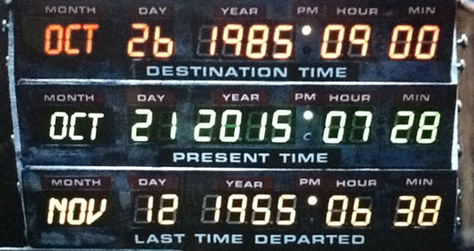 Back to the Future clock
