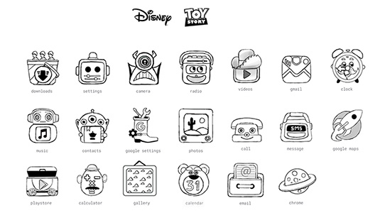 Toy Story Android icons