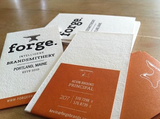Letterpress business cards: Forge