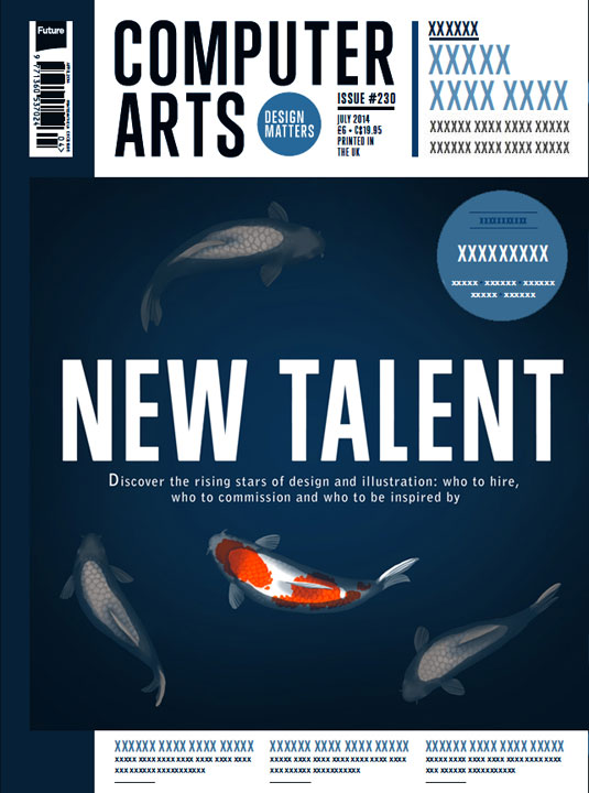 Cover design for CA's New Talent issue by Johanna Tarkela