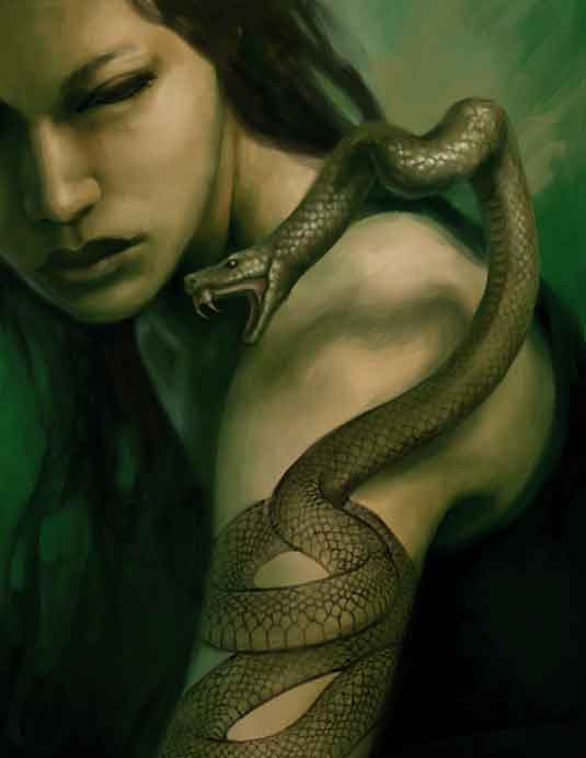 snake tattoo coming alive