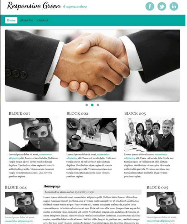 Drupal themes - Responsive Green