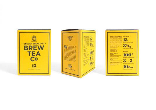 brew tea co packaging