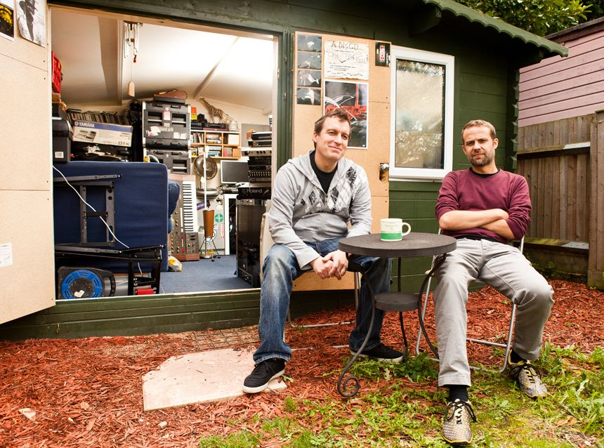 In pictures plaids 39 s studio in a shed musicradar for Garden shed music studio