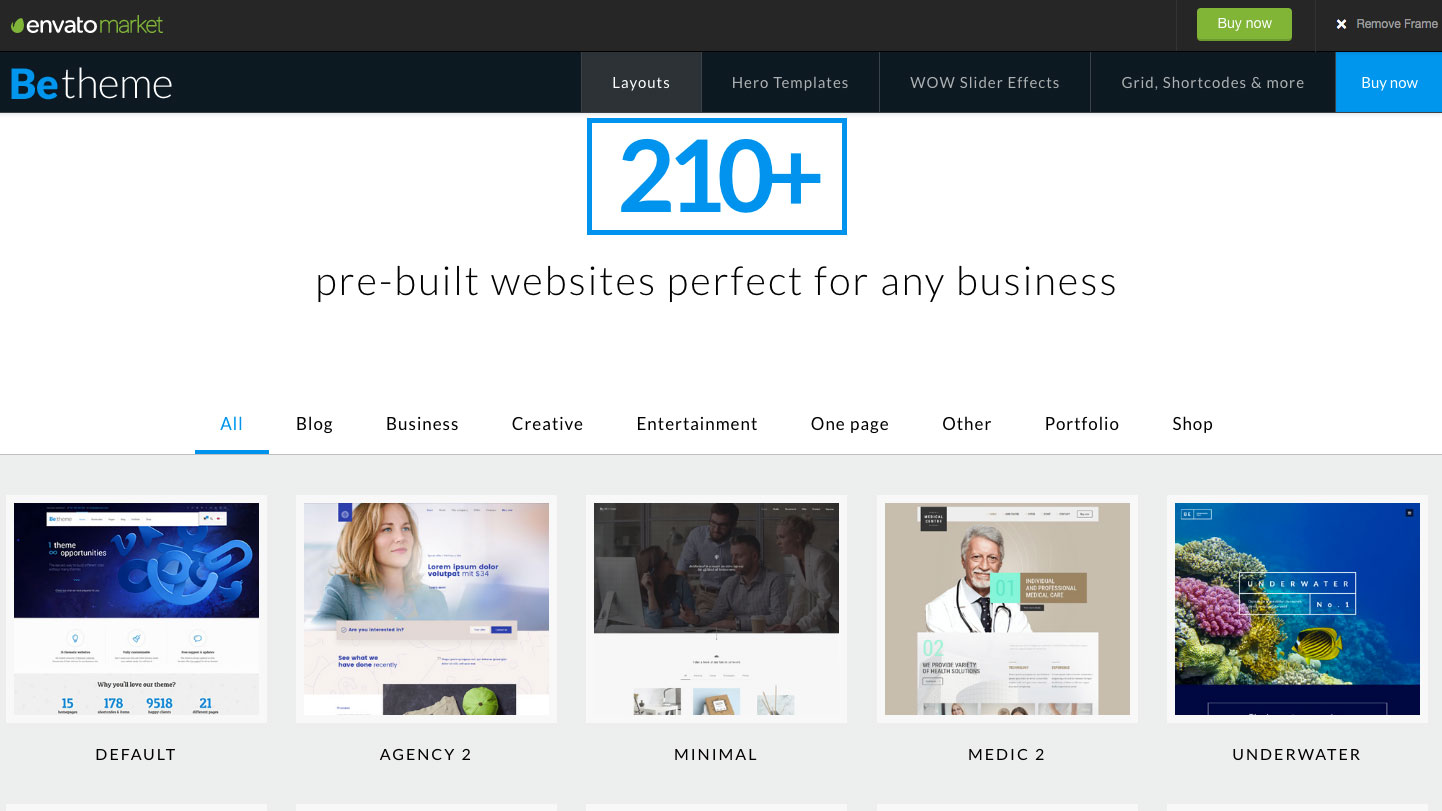 Website templates - BeTheme