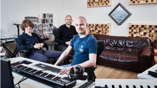 Noisia left to right Thijs de Vlieger Nik Roos and Martijn van Sonderen