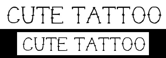 Tattoo fonts Cute