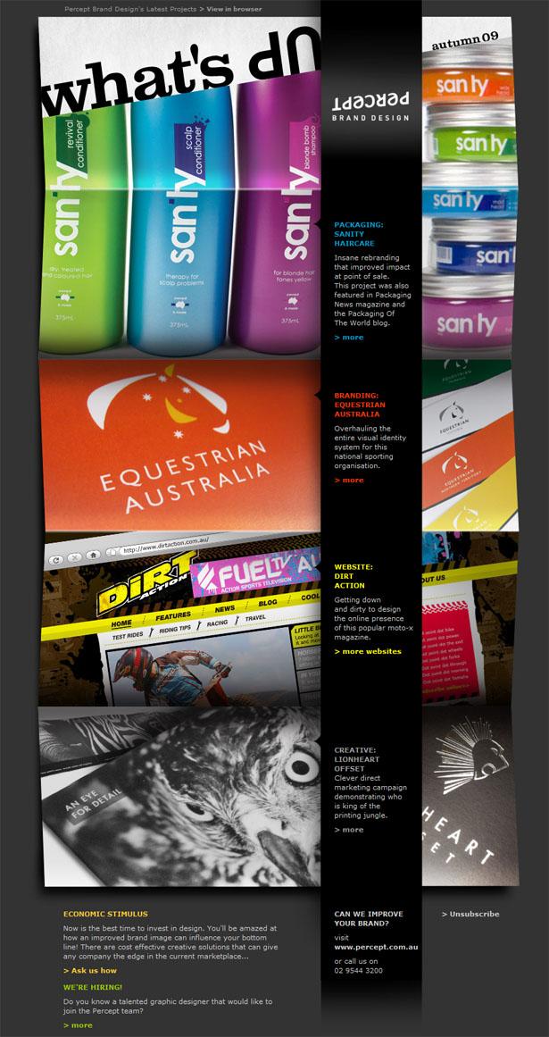 33 simple but effective email newsletter designs for Newsletter design inspiration