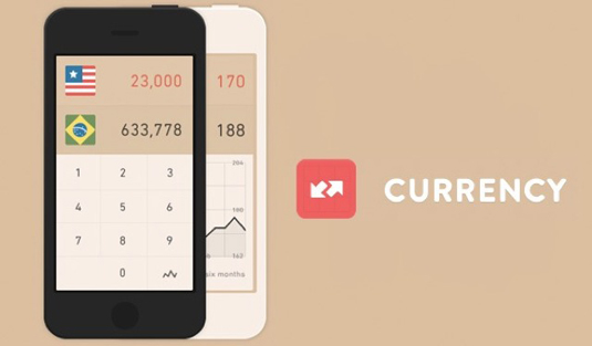 Examples of flat design: Currency
