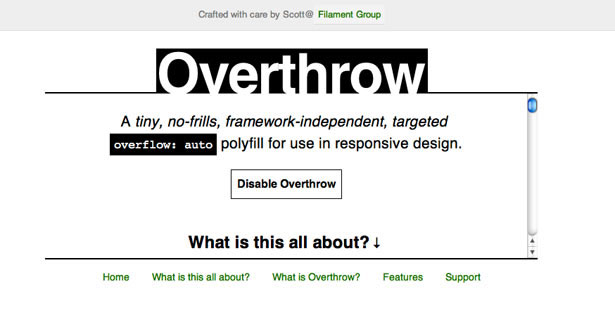 Overflow enables you to handle overflow in a consistent manner